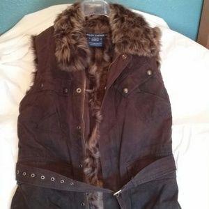 Ralph Lauren Leather/fur Vest